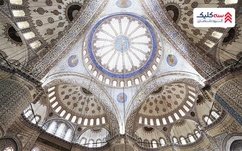 نمایی زیبا از مسجد سلطان احمد