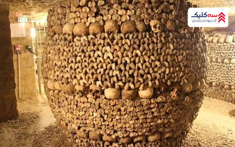 دخمه گور های پاریس از عجیب ترین  جاذبه های ترسناک دنیا