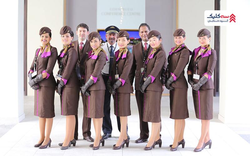 شرکت هواپیمایی اتحاد ایرویز با خوشتیپ ترین مهمانداران هواپیما