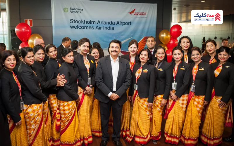 شرکت هواپیمایی ایرایندیا با خوشتیپ ترین مهمانداران هواپیما