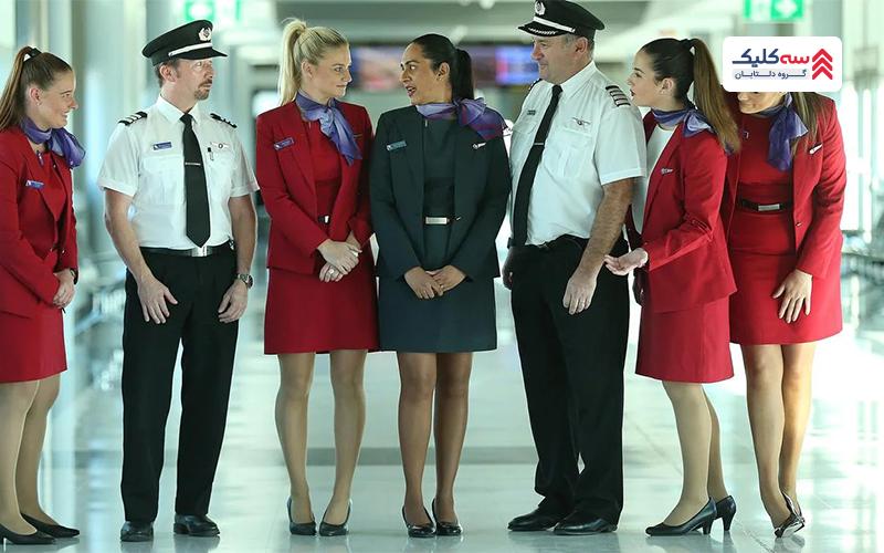 ویرجین استرالیا با خوشتیپ ترین مهمانداران هواپیما