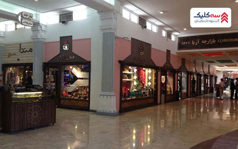 نمایی داخلی از مرکز خرید مروارید کیش