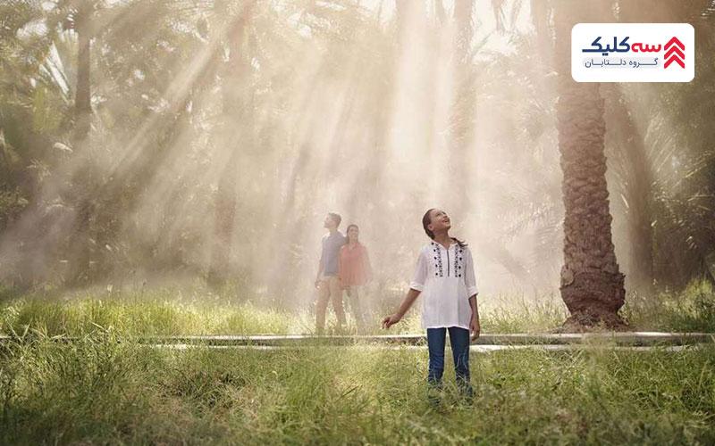 جاذبه گردشگری العین که با نام واحه العین شناخته میشود مجوعه ای وسیع از مزارع نخل و خرما.