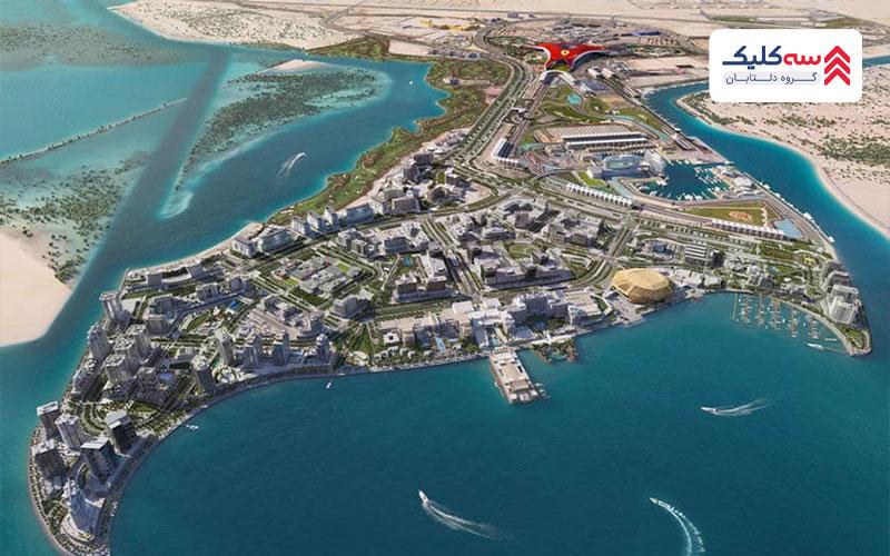 تصویری از جزیره یاس به عنوان جاذبه گردشگری ابوظبی
