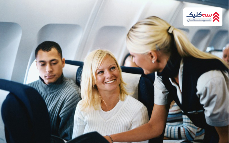 خدمت رسانی مهمانداران به مسافرین