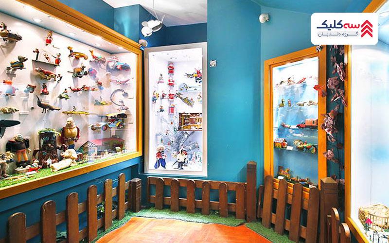 دیوارهای داخلی موزه اسباب بازی استانبول