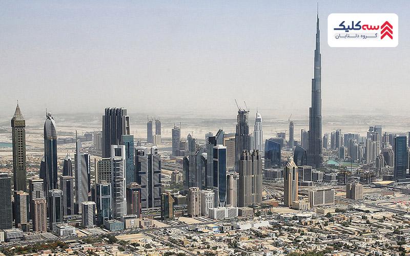 نمایی از شهر دبی کشور امارات