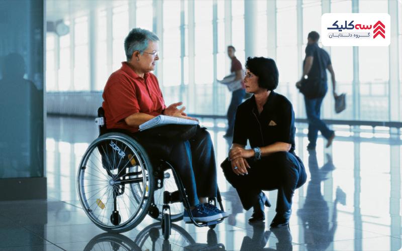 شرایط پرواز برای معلولان و همراهی با کارمندی صبور و متعهد
