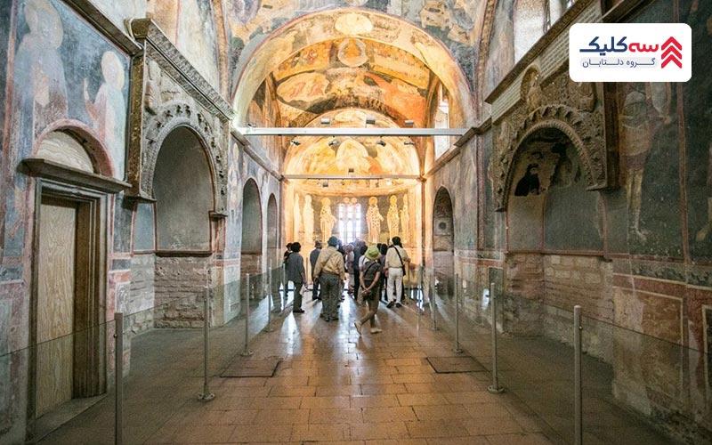 فضای داخلی مسجد ایاصوفیه که قبلا موزه ایاصوفیه بود