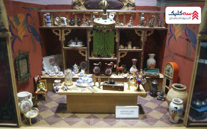 بخشی از اشیاء دکوری موزه اسباب بازی استانبول