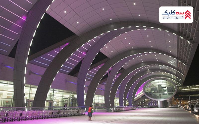 تصویر آل مکتوم یکی از فرودگاههای دبی