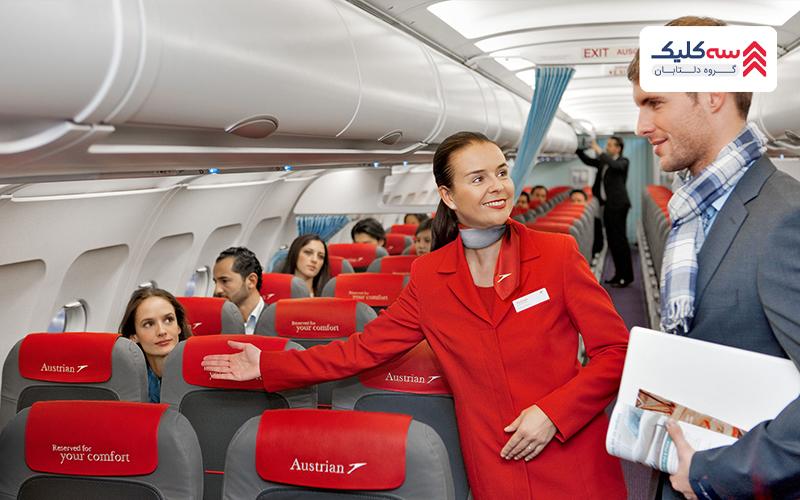 راهنمایی مسافران توسط مهمانداران و خدمه پرواز