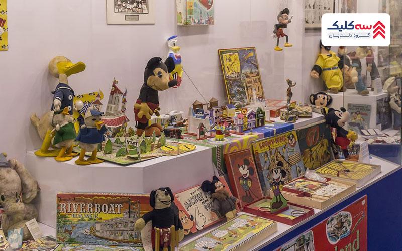 تصویری از اشیاء موزه اسباب بازی استانبول