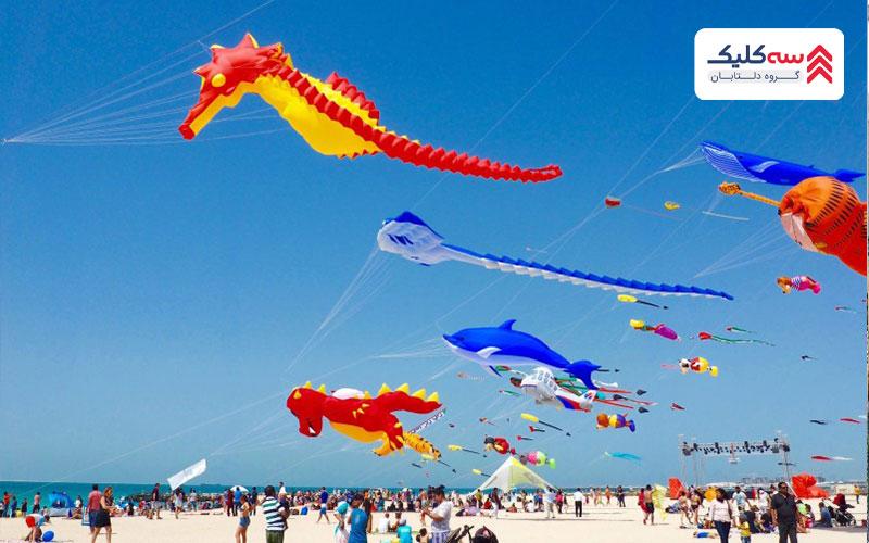 ساحل بادبادکها از بهترین سواحل دبی