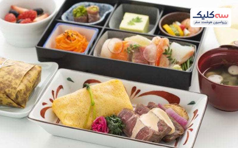 انواع غذا در هواپیما با پرواز فرست کلاس