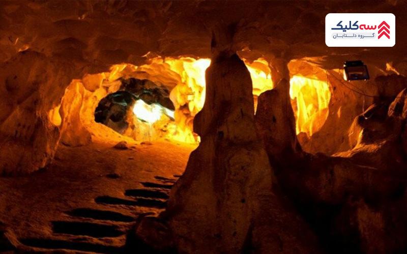 غارهای دودنسیک یکی از پر رمزو راز ترین  جاذبه های گردشگری سیده