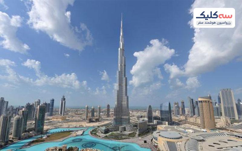 برج خلیفه از جاذبه های امارات