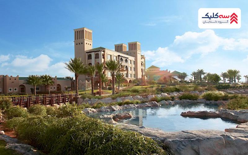 اقامت درابوظبی در ساختمان شیخ زاید که به عنوان مهمانسرای جزیره می باشد