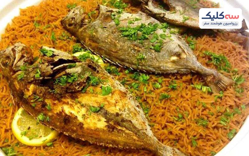سمک مشوی از اغذا های سنتی کیش